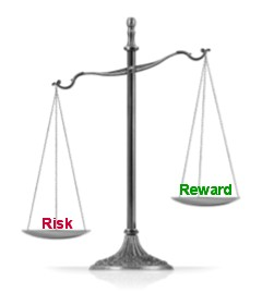 scales risk reward small